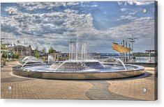 Acrylic Print featuring the photograph Smothers Park Fountains #1 by Wendell Thompson