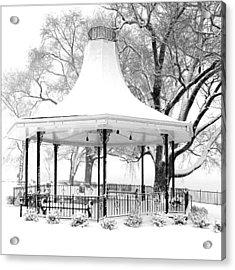 Smothers Park Gazebo Acrylic Print by Wendell Thompson