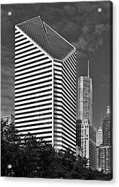 Smurfit-stone Chicago - Now Crain Communications Building Acrylic Print by Christine Till