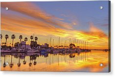 Smyrna Yacht Club Sunrise II Acrylic Print by Danny Mongosa