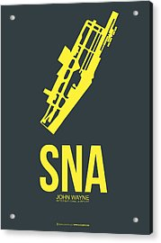Sna Orange County Airport Poster 3 Acrylic Print by Naxart Studio