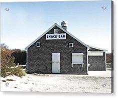 Snack Bar Off-season No. 2 Acrylic Print by Brooke T Ryan