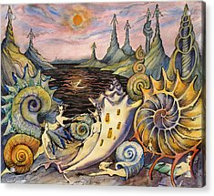 Snail City  Acrylic Print by Valentina Plishchina
