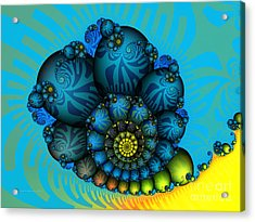 Snail Mail-fractal Art Acrylic Print by Karin Kuhlmann