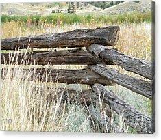 Snake Fence And Sage Brush Acrylic Print