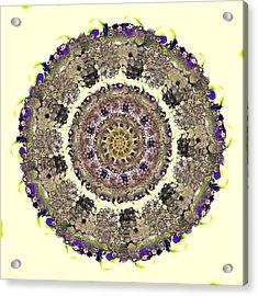 Snake Mandala Acrylic Print by Anastasiya Malakhova