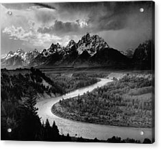 Snake River In The Tetons - 1930s Acrylic Print by Mountain Dreams