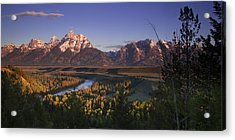Snake River Panorama Acrylic Print by Andrew Soundarajan