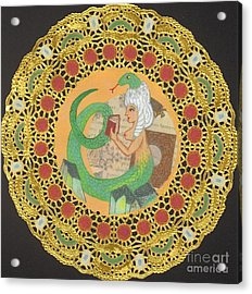 Snake Woman Acrylic Print by Juliana Brandon