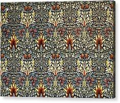 Snakeshead Acrylic Print by William Morris