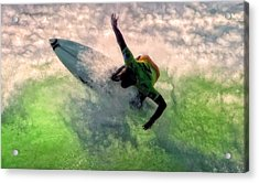Acrylic Print featuring the painting Snap Turn by Michael Pickett