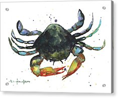 Snappy Crab Acrylic Print by Alison Fennell