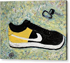 Sneaker And Sportcars Acrylic Print by Mark Stiles