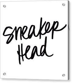 Sneaker Head Acrylic Print