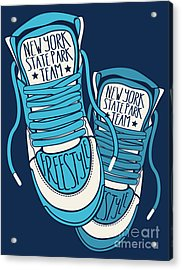 Sneakers Graphic Design For Tee Acrylic Print