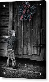 Acrylic Print featuring the photograph Sneaking A Peek by Kelly Hazel