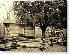 Snodgrass Cabin And Cannon Acrylic Print