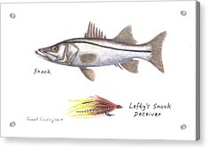 Snook And  Lefty's Snook Deceiver Fly Acrylic Print