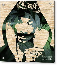 Snoop Dog Snoop Lion And The Plant Acrylic Print