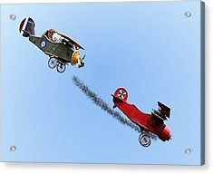Snoopy And The Red Baron Acrylic Print by Kristin Elmquist