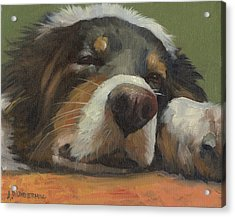 Acrylic Print featuring the painting Snoozing by Alecia Underhill