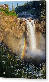 Snoqualmie Falls  Acrylic Print by Sonya Lang