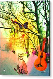 Snow And Butterfly Dreams Acrylic Print by Mary Anne Ritchie