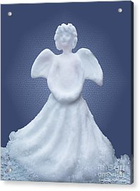 Snow Angel Acrylic Print by Barbara McMahon