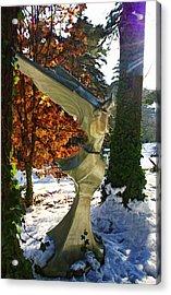 Snow Angel Acrylic Print by Chrystyne Novack