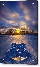 Snow Angel Acrylic Print by Phil Koch