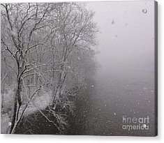 Snow At Bulls Island - 12 Acrylic Print