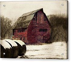 Snow Bales Acrylic Print
