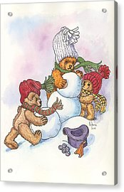 Snow Bears Acrylic Print