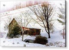 Snow Blanket Acrylic Print by Karen Wiles