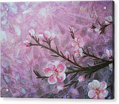 Snow Blossom Acrylic Print by Arlissa Vaughn