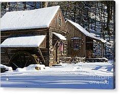 Snow Bound Acrylic Print by Paul Ward