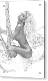 Snow Bunny Acrylic Print by Pete Tapang