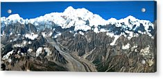 Snow Capped Canyon Acrylic Print