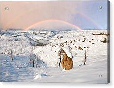 Snow Capped Hoodoo's Acrylic Print
