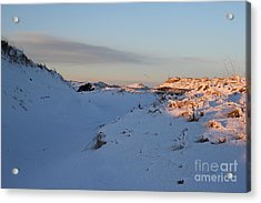 Snow Capped Sand Dunes Acrylic Print