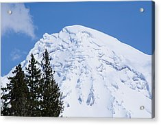 Snow Cone Mountain Top Acrylic Print by Tikvah's Hope