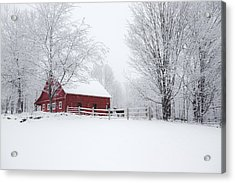 Snow Country Acrylic Print by Robert Clifford