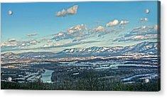 Snow Covered Blue Ridge Acrylic Print by Lara Ellis