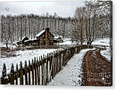 Acrylic Print featuring the photograph Snow Covered by Brenda Bostic