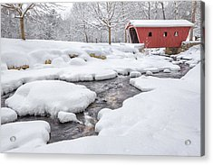 The Stillness Of Winter Acrylic Print by Bill Wakeley