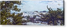 Acrylic Print featuring the photograph Snow Covered Dunes Photo Art by Constantine Gregory