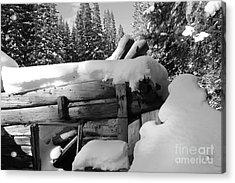 Snow Covered History Acrylic Print