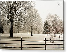 Acrylic Print featuring the photograph Snow-covered Landscape by Ann Murphy