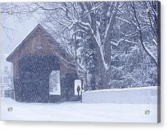 Acrylic Print featuring the photograph Snow Day by Alan L Graham