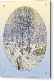Snow Day Acrylic Print by Donna Tucker